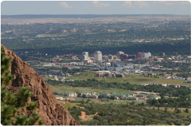 Colorado Springs' moving scenery