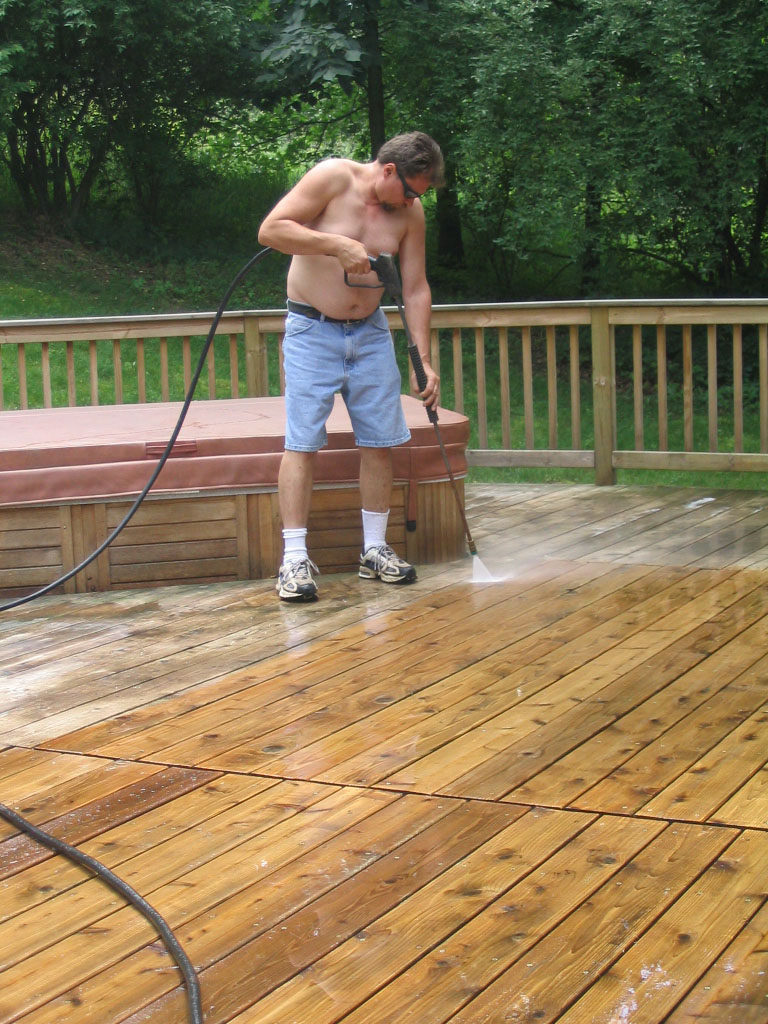 powerwashing deck