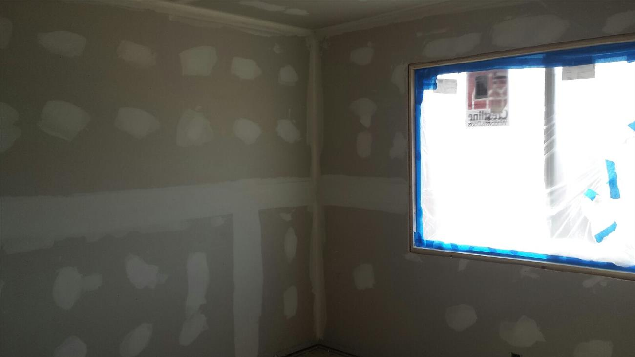 new drywall and windows