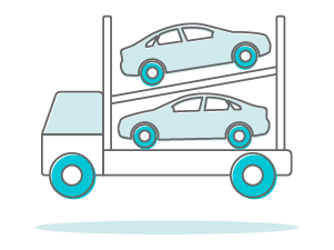 billy car shipping graphic