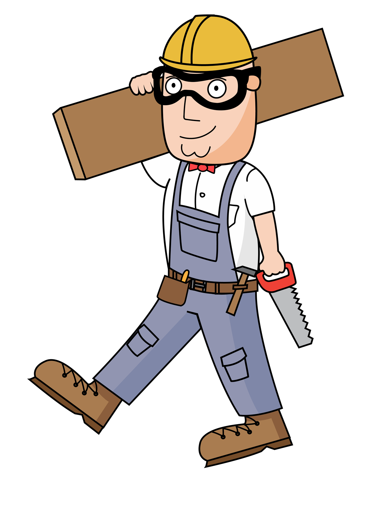 billy dressed up as a carpenter